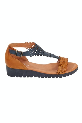 Gamins Furman Low Leather Wedge