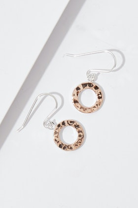 Najo Truly Drop Rose Gold Earrings
