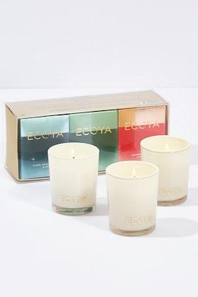 Ecoya Three Christmas Fragrance Pocket Madison Candle Set