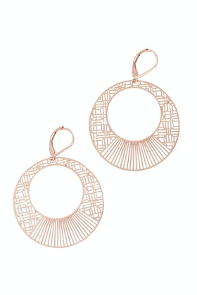 Duck & Sparrow Art Ring Large Hoop Earrings