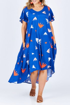 Elm Falling Leaves Maxi