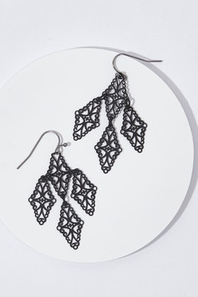Duck & Sparrow Lace Dangle Earrings