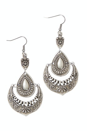Isle & Tribe Antique Silver Shalimar Earrings