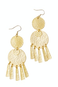 Paloma Hammered Gold Earrings