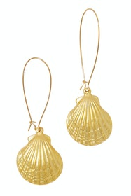 Pippi Gold Shell Drop Earrings