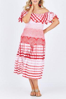Lula Soul Tierra Off Shoulder Dress