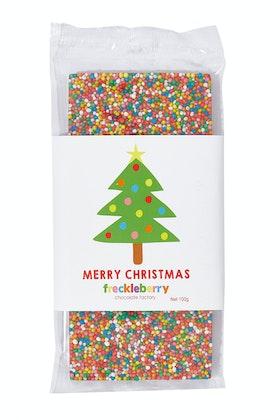 Freckleberry Merry Xmas Tree Freckle Chocolate Block