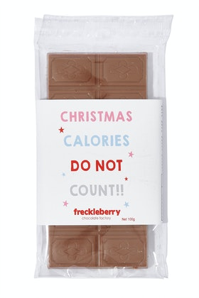 Freckleberry Christmas Calories Do Not Count Milk Chocolate Bloc