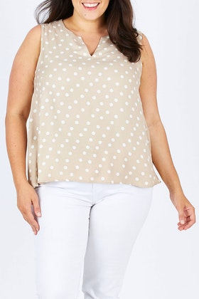 bird keepers The Printed V Split Top