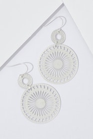 Sun Dial Dangle Earrings