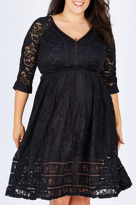 bird by design The 3/4 Sleeve Lace Dress