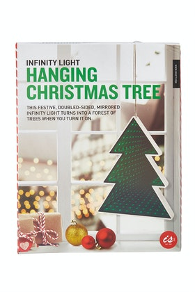 IS Gifts Infinity Light Hanging Christmas Tree