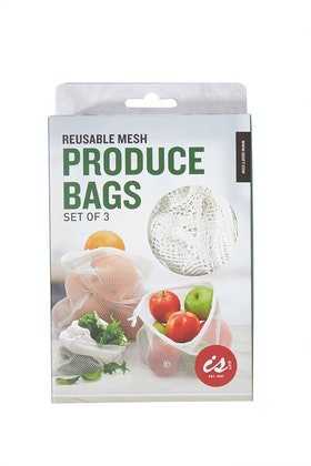 IS Gifts Reusable Mesh Produce Bags- Set Of Three