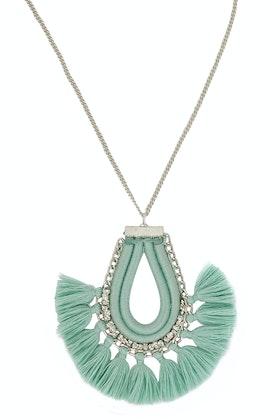 Zoda Emma Long Tassel Pendant Necklace