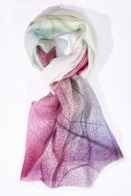 JJ Sisters Silk Blend Leaf Profile Scarf