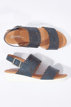 Gamins Floy Low Leather Wedge