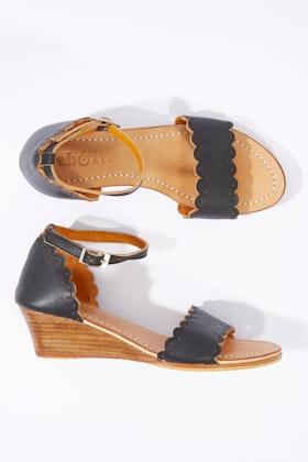 Eb & Ive Cacada Leather Wedge