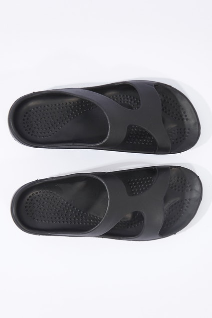 3544b8f270e1df Aussie Soles Indy Orthotic Support Slides - Womens Flats - Birdsnest Online  Fashion Store