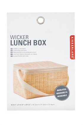 IS Gifts Wicker Print Lunch Bag