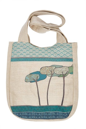 Rancho Linen Shoulder Printed Bag