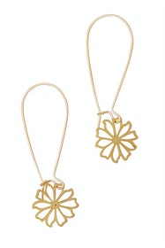 Fine Daisy Hook Earrings
