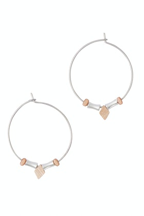 Rancho Hoop And Facet Earrings
