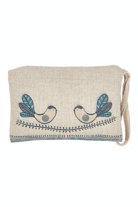 Rancho Linen Clutch Bag