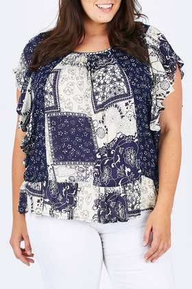 Orientique Verona Patchwork Top