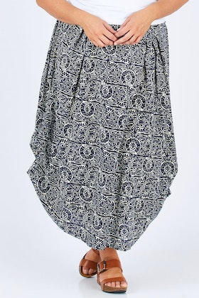 Orientique Aprilia Print Maxi Skirt