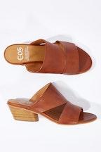 EOS Bess Leather Mule Heel