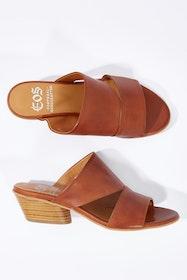 Bess Leather Mule Heel