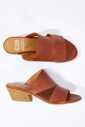 EOS Bess Leather Mule Heel