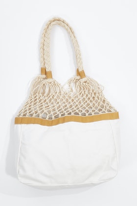 Rancho Plaits And Ropes Canvas Leather Bag