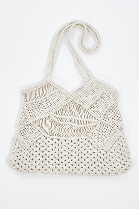 Bambury Liana Macrame Cotton Beach Tote