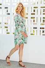 Jump Gatsby Floral Bell Sleeve Dress