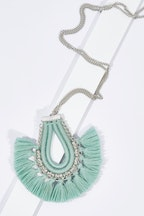 Zoda Emma Long Tassel Pendant Necklace