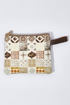 Zoda Printed Zipper Clutch Bag