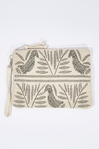 Zoda Birdie Zipper Clutch Bag
