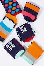 Annabel Trends Funky Feet Walk The Talk Mens Boxed Socks