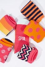 Annabel Trends Girl Talk Funky Feet Boxed Socks
