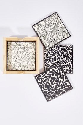 Annabel Trends Ceramic Coaster Square Set