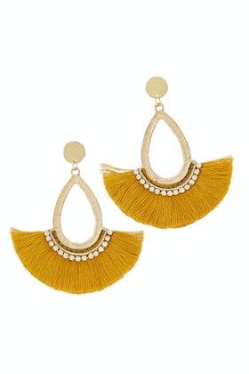 Zoda Teardrop Tassel Earrings