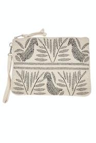 Birdie Zipper Clutch Bag