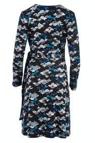 Sunburst Wrap Dress