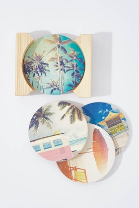 Annabel Trends Ceramic Coaster Round Set
