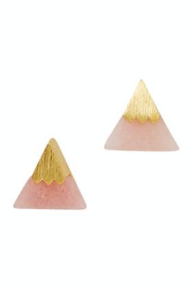 Eb & Ive Rose Gold Triangle Earpin Earrings