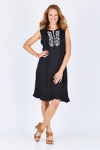 Cordelia St Rayon Emb Dress