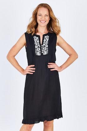 Cordelia St Rayon Emb Dress