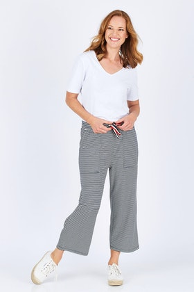 Elm Seaside Cropped Stripe Pant