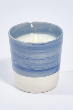 Lantern Cove Brushstrokes 8oz Blueberry Ceramic Candle